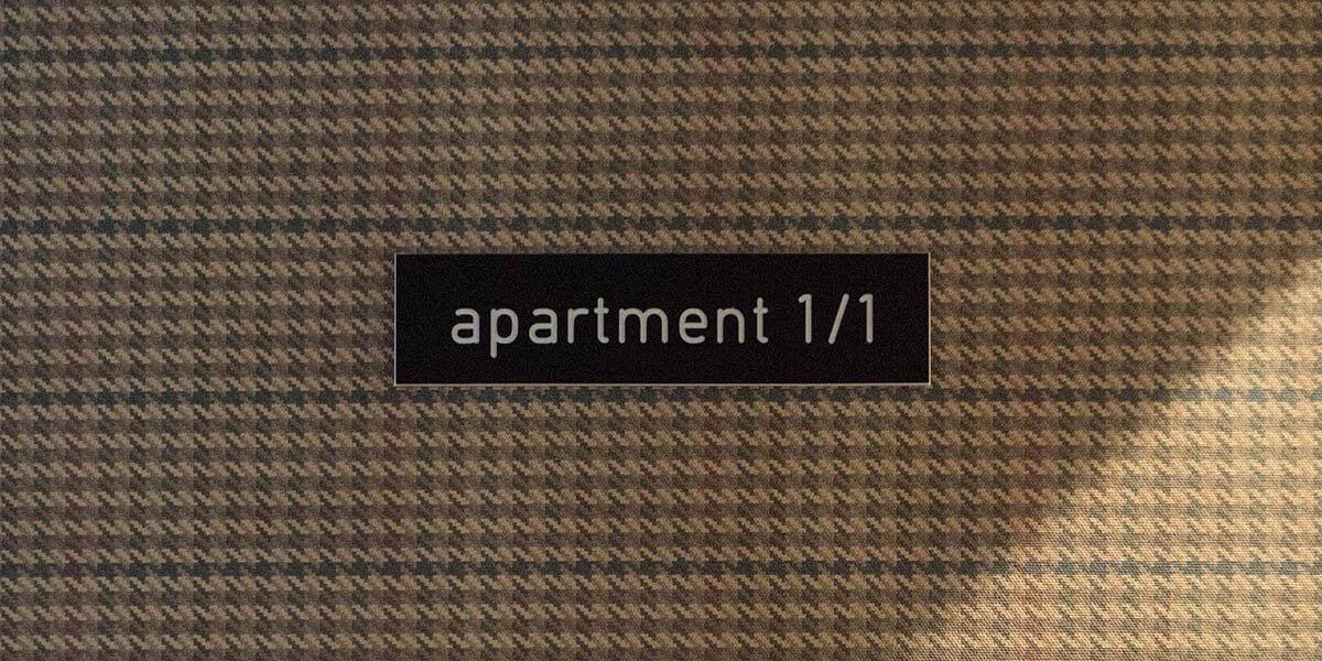 apartement bordje van de flat op de eerste verdieping van aplace antwerp